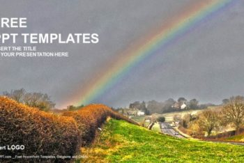 Free Pretty Nature Rainbow Powerpoint Template