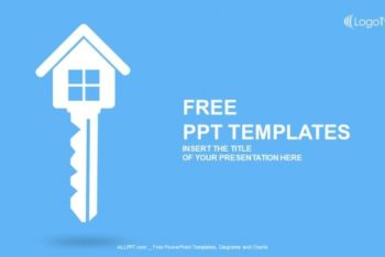 Free Real Estate Key Powerpoint Template