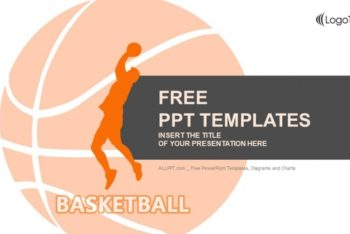 Free Basketball Player Vector Powerpoint Template