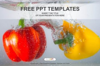 Free Red Plus Yellow Pepper Powerpoint Template