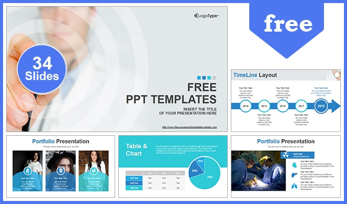 Free Scientific Research Theme Powerpoint Template