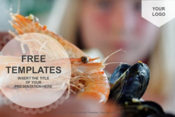 Free Appetizing Seafood Meal Powerpoint Template