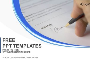 Free Responsible Document Signing Powerpoint Template
