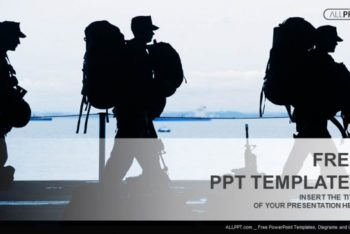 Free Military Man Silhouette Powerpoint Template