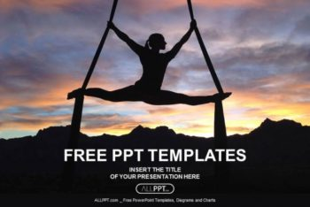 Free Female Yoga Silhouette Powerpoint Template
