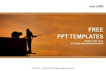 Free Industrial Worker Silhouette Powerpoint Template
