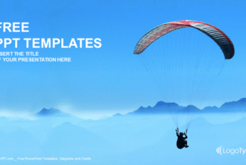 Free Extreme Paraglider Sport Powerpoint Template