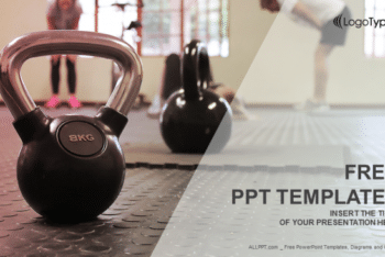 Free Kettle Bell Fitness Powerpoint Template