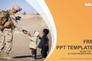 Free Military Service Charity Powerpoint Template