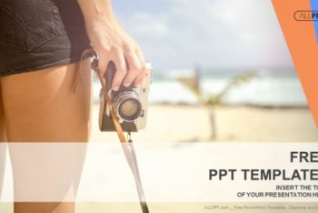 Free Beach Sports Photography Powerpoint Template