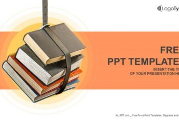 Free Educational Book Stack Powerpoint Template