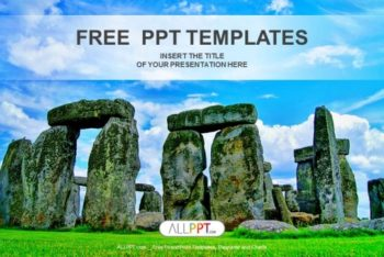 Free Beautiful Stonehenge Visuals Powerpoint Template