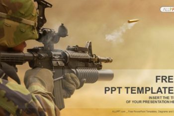 Free Military Assault Rifle Powerpoint Template