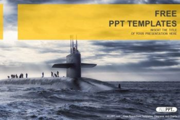 Free Military Submarine Sailing Powerpoint Template