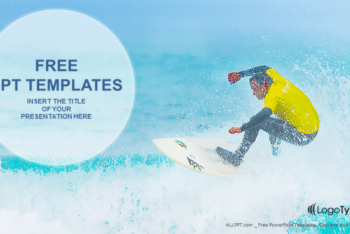 Free Intense Surfer Watersport Powerpoint Template