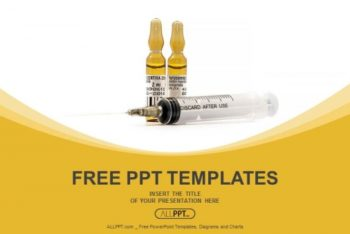 Free Medical Syringe Ampoules Powerpoint Template