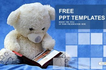 Free Cute Smart Teddy Bear Powerpoint Template