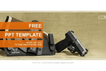 Free Modern Automatic Pistol Powerpoint Template