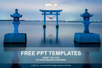 Free Famous Oriental Architecture Powerpoint Template
