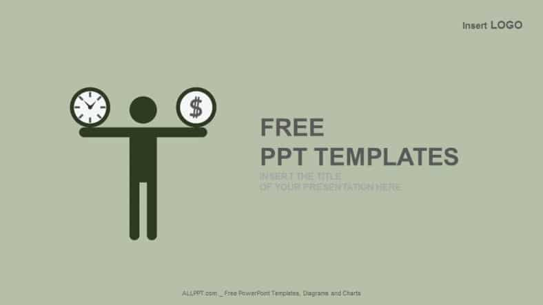 Free Time Plus Money Burden Powerpoint Template Designhooks