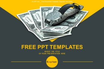Free Time Money Ratio Powerpoint Template
