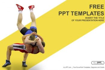 Free Greco Roman Wrestling Powerpoint Template