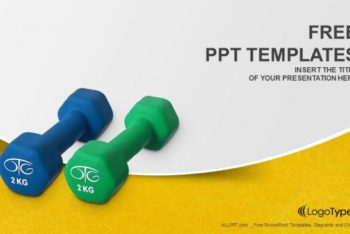 Free Light Exercise Dumbbells Powerpoint Template