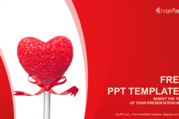 Free Sweet Valentine Heart Powerpoint Template