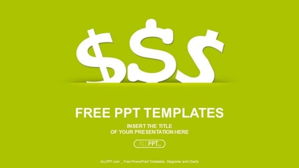 Free Dollar Icon Finance Powerpoint Template Designhooks