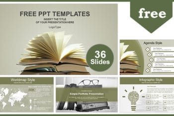 Free Book Reading Promotion Powerpoint Template