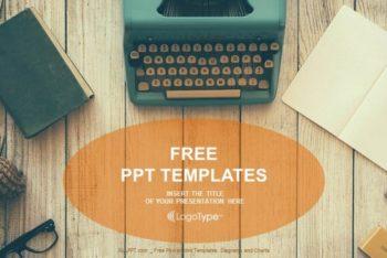 Free Vintage Typewriter Scene Powerpoint Template