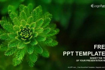 Free Nature Water Plant Powerpoint Template