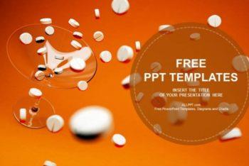 Free White Medicine Pills Powerpoint Template