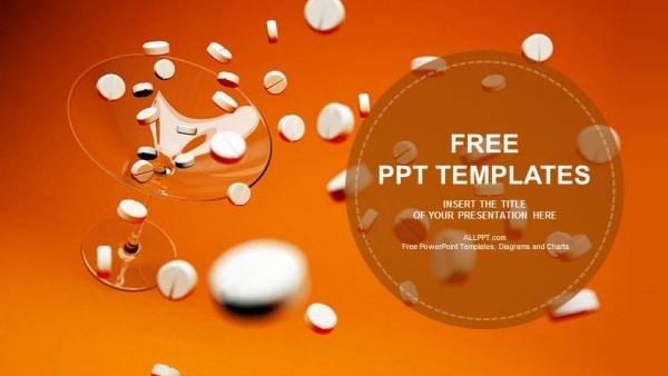 Free White Medicine Pills Powerpoint Template Designhooks