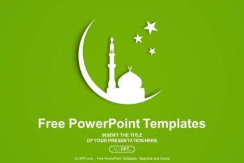 Free Mosque Silhouette Concept Powerpoint Template