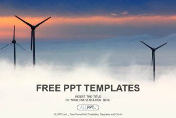 Free Futuristic Wind Power Farms Powerpoint Template