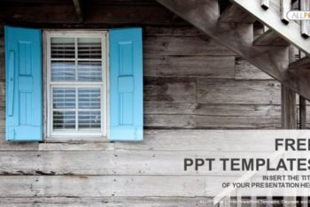 Free Wooden House Window Powerpoint Template