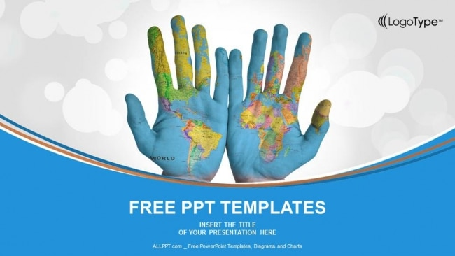 World-Map-Painted-on-Hands-PowerPoint-Templates-1 One Page Template Bootstrap Free on landing page, cinema page, lead generation, admin modern, baby products theme, studio e-commerce, login splash screen,