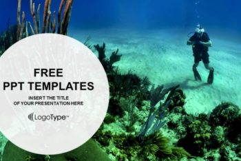 Free Scuba Diving Man Powerpoint Template