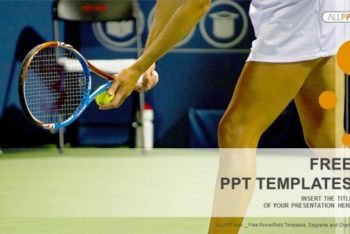 Free Female Tennis Player Powerpoint Template