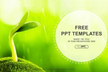 Free Young Plant Sprout Powerpoint Template