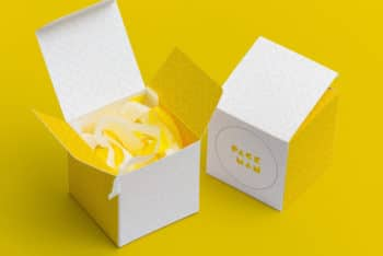 Beautiful Paper Box PSD Mockup for Useful Box Designing