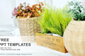 Free Garden Plant Pots Powerpoint Template