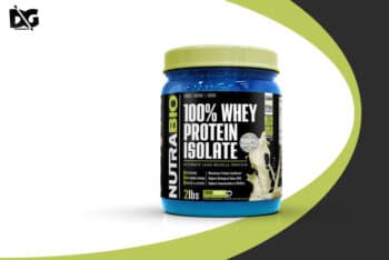 Whey Protein Jar PSD Mockup for Designing Whey Protein Packaging