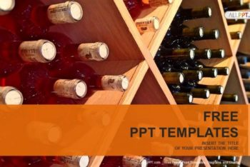 Free Exquisite Wine Bottles Powerpoint Template