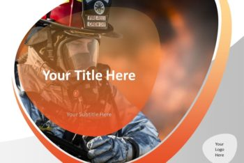 Free Firefighter Action Scene Powerpoint Template