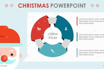 Free Christmas Theme Slides Powerpoint Template