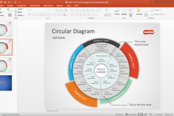 Free Multi Level Circle Powerpoint Template