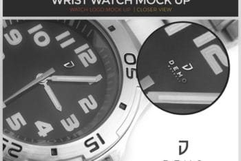Download Wristwatch PSD Mockup For Free