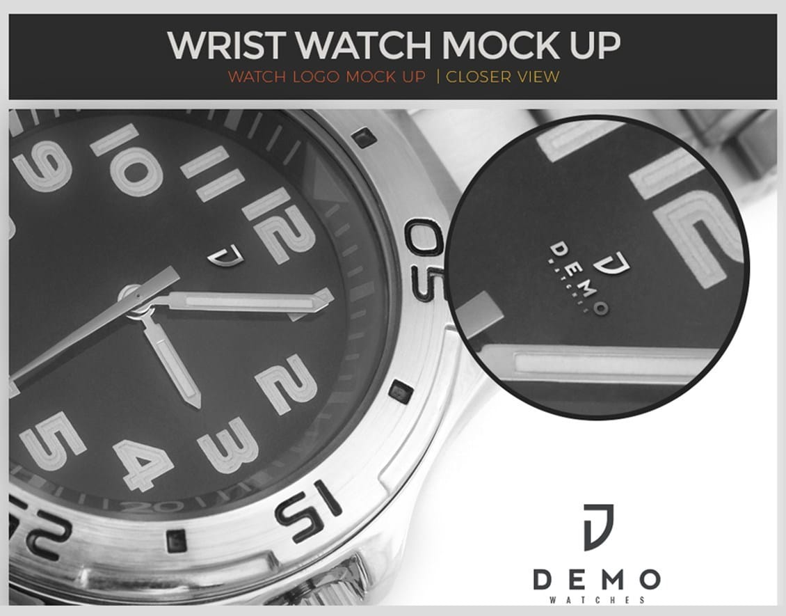 Wristwatch PSD mock up